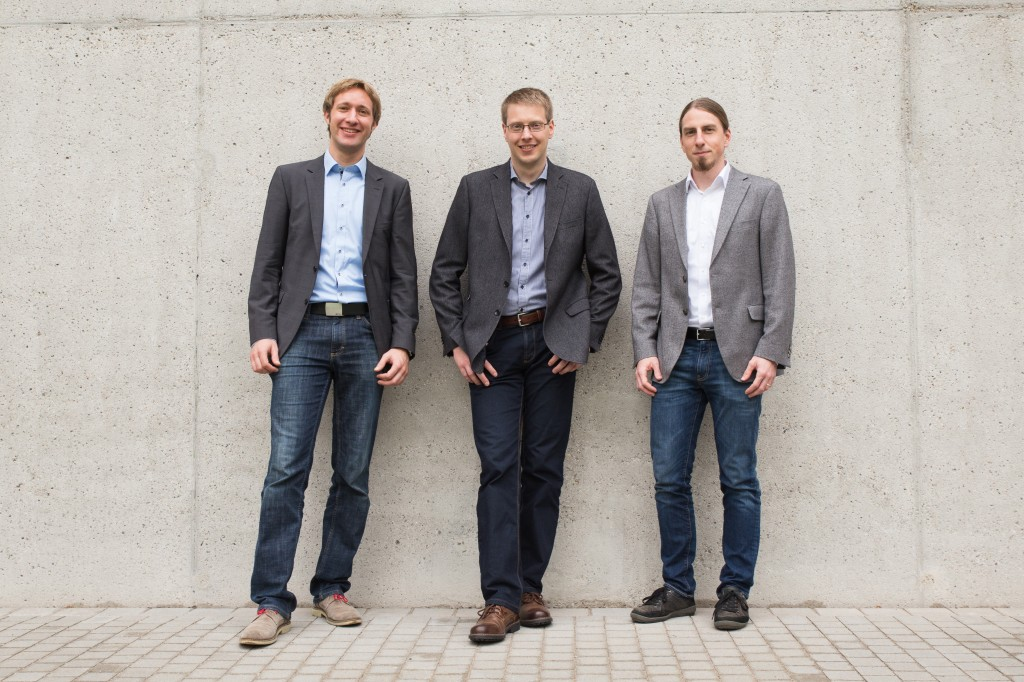 The robodev founders (left to right): Dr Julien Mintenbeck, Dr Jens Liedke and Dr Andreas Bihlmaier. Quelle: robodev